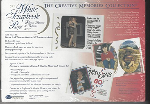 7 White Scrapbook Pages - 6