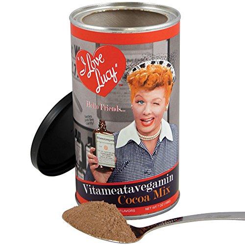 Hot Chocolate Tin - I Love Lucy Ricardo Vitameatavegamin Cocoa Mix - 7 oz. Hot Chocolate Tin