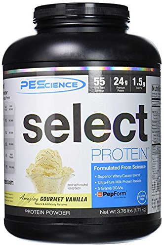 PEScience – Select Protein – Whey & Casein Protein Powder Supplement Blend – 55 Servings ( Gourmet Vanilla )