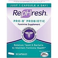RepHresh Pro-B Probiotic Feminine Supplement, 30 Count