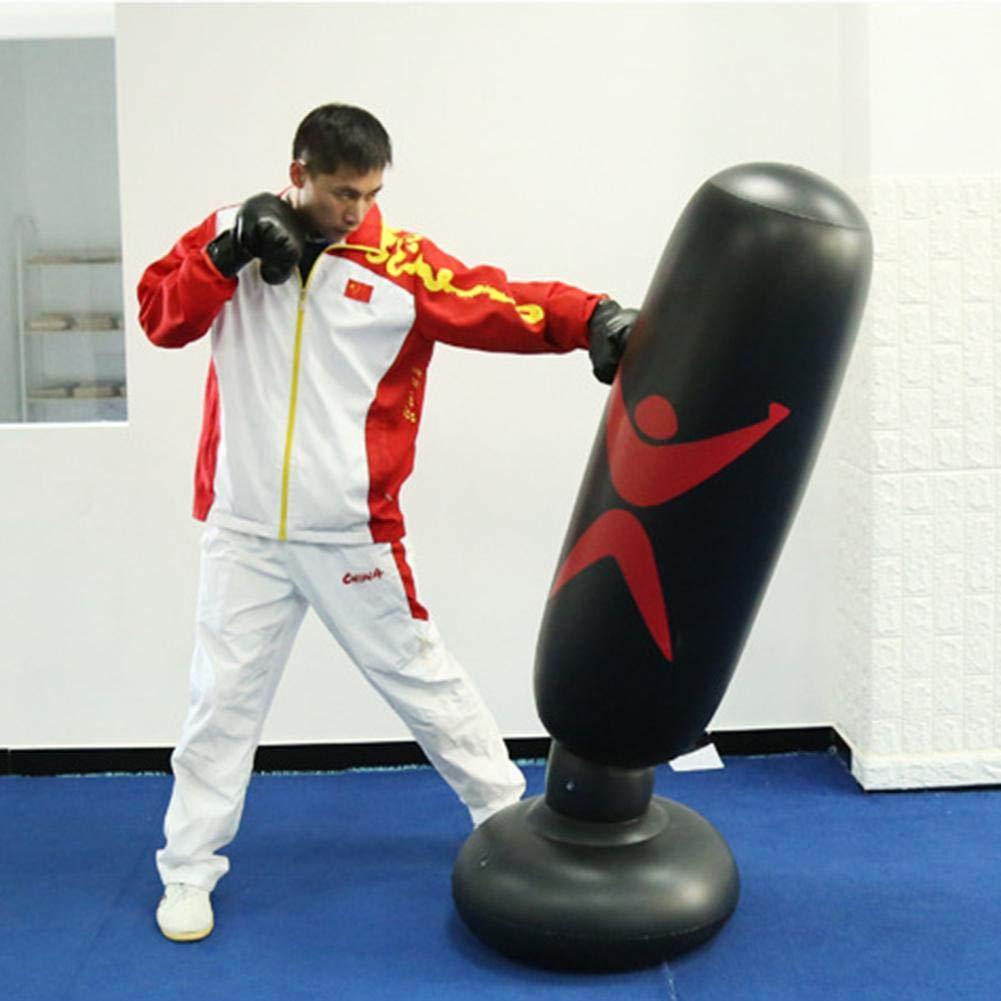 sur Pied Exercices de Boxing Parfait pour Les Enfants et Les Adultes Sac de Frappe sur Pied pour Le Fitness la Boxe Sac Gonflable avec cibles de Frappe