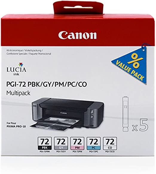 Canon Original Canon Pixma Pro 10 S Pgi 72 6403 B 007 Tintenpatrone Multipack Black Photocyan Photomagenta Gray Bürobedarf Schreibwaren