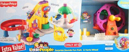 Mattel Little People (Little People Surprise Sounds Fun Park & Ferris Wheel w Lights & Sounds - Target Exclusive Playset (2008))