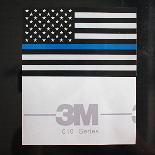 Creatrill Reflective Us Flag Decal Packs With Thin Blue