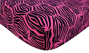 Amazon Com Trend Lab Flannel Crib Sheet Zebra Print