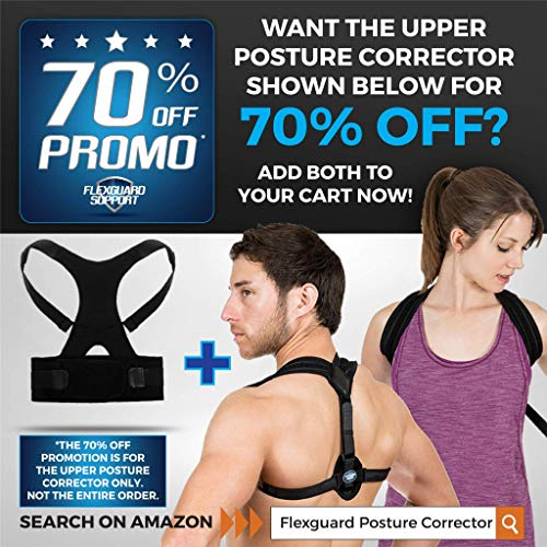 Back Brace Posture Corrector   Best Fully Adjustable Support Brace   Improves Posture and Provides Lumbar Support   For Lower and Upper Back Pain   Men and Women (L (30'' - 36'' waist)) by Flexguard Support (Image #5)