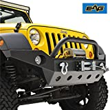 EAG Full Width Front Bumper With Fog Lights Hole & Winch ...