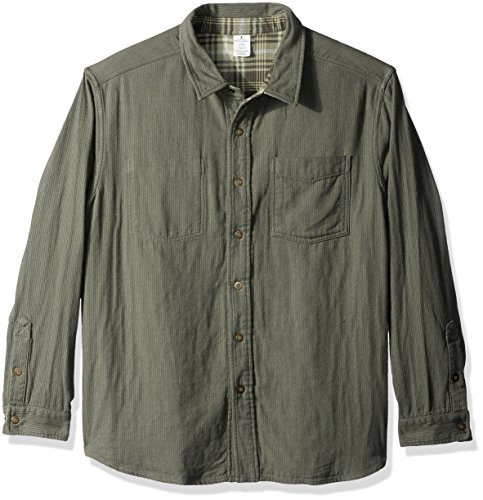 Royal Robbins Men's Double Back Overshirt, Bayleaf, X-Large