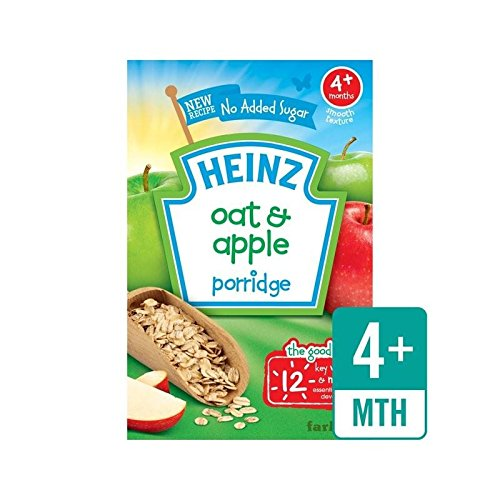 Heinz Breakfast Oats & Apple Cereal 4 Mths+ 125g - Pack of 4