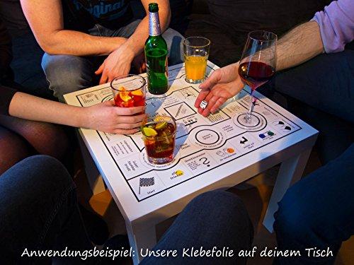 Trinkspieltisch - Klebefolie mit Spielzubehör (ohne Tisch)