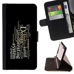 - Deep Message - - Prima caja de la PU billetera de cuero con ranuras para tarjetas, efectivo desmontable correa para l Funny HouseFOR Apple Iphone 6