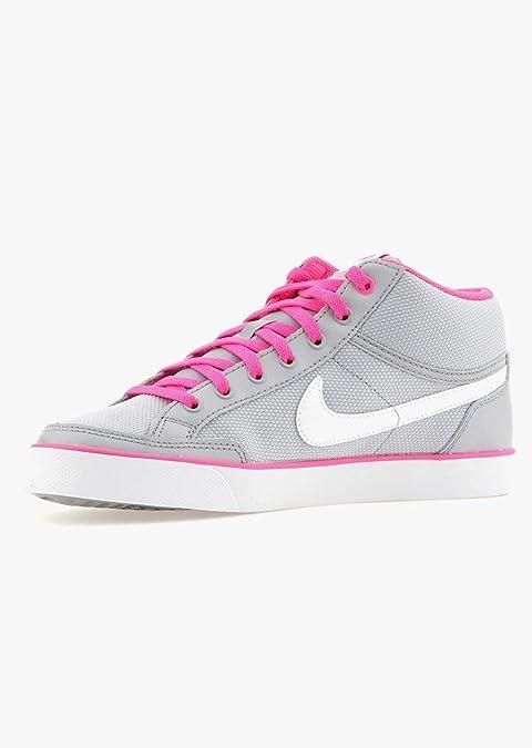 Nike Capri 3 Mid TXT GS, Zapatillas de Deporte para Niñas, Gris (Gris (WLF Grey/White-Pnk Blst-Cl Gry)), 38.5 EU