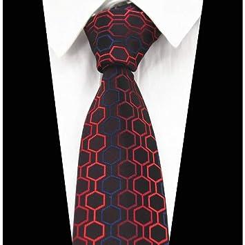 KYDCB Boda roja Novedad Geometría Corbatas 8Cm Moda para Hombre ...