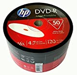 HP DVD-R16x 4.7GB White Inkjet Hub Printable 50 pieces