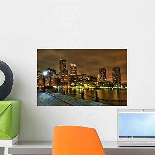 Boston Wall Mural by Wallmonkeys Peel and Stick Graphic (18 in W x 11 in H) - Boston Is Where Downtown