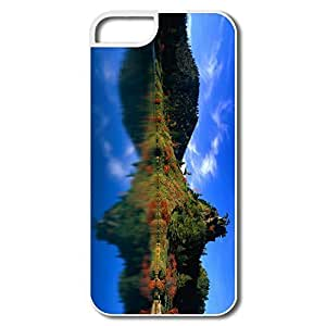 IPhone 5 Cases, Reflection Autumn Trees Case For IPhone 5 5S - White Hard Plastic