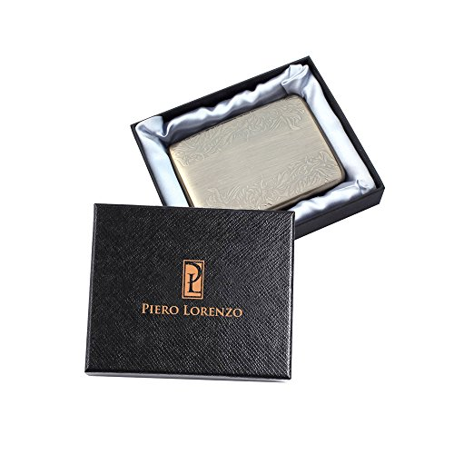 Credit Card Holder - Stainless Steel RFID Blocking Protector - For Men & Women -Stylish Travel Wallet as Gift - Protection for Your Bank and ID cards Against RFID Scanners (Bronze)
