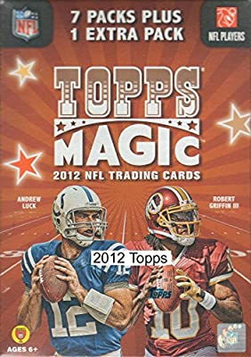 2012 Topps Magic Football Series Unopened Blaster Box with Possible Robert Griffin, Andrew Luck and Russell Wilson Rookie Cards
