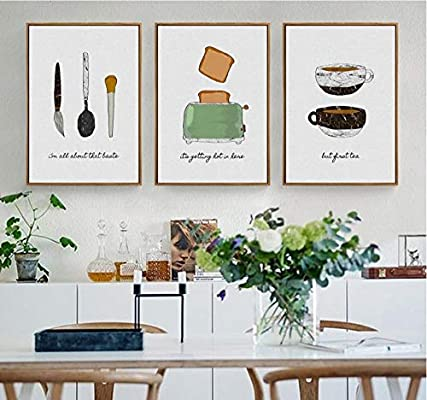 xwwnzdq Pan Minimalista café Pared Cuadros Lienzo Pintura ...