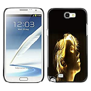 TopCaseStore / la caja del caucho duro de la cubierta de protección de la piel - Shining Girl Sci Fi - Samsung Galaxy Note 2 N7100