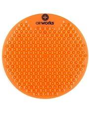 "AirWorks AWSFUS007-BX Splash Free Urinal Screen, Mango, 0.22 lb, 8"" Height, 6"" Width, Orange (Pack of 10)"