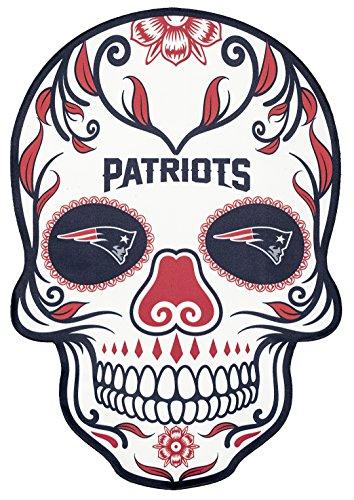 Applied Icon NFL New England Patriots Outdoor Small Dia De Los Muertos Skull Decal