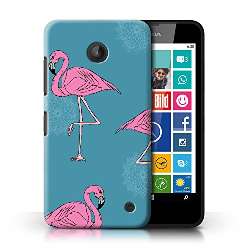 STUFF4 Phone Case/Cover for Nokia Lumia 635/Mandala/Teal Design/Cute Flamingo Cartoon - Nokia For Cases 635 Phone Girls
