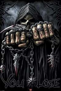 Spiral (Game Over You Lose, Grim Reaper) Art Poster Print - 24x36
