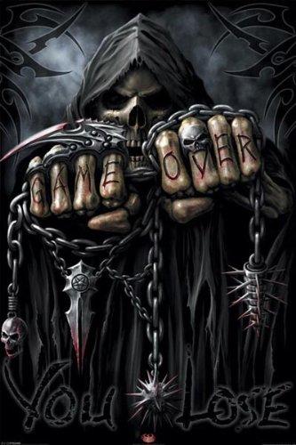 Amazoncom Pyramid America Spiral Game Over Grim Reaper Poster Art
