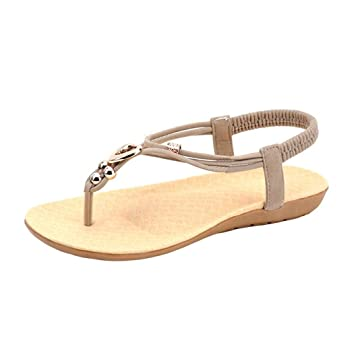 b2aa4b0547de Sunday Women Summer Fashion Bohemia Sweet Beaded Sandals Ladies Soft Flat  Slipper