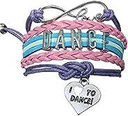 Dance Bracelet- Dance Jewelry - Love Dance Charm Bracelet- Gift For Dance Recitals & Dan