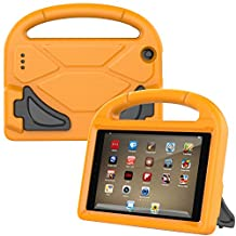 Fire 7 Case 2017,Fire 7 2015 Case,Thgriblz Light Weight Protective Kids Case for Amazon Kindle Fire 7 inch Display Tablet (7th Generation,2017 Release) & (5th Generation,2015 Release) (Orange)