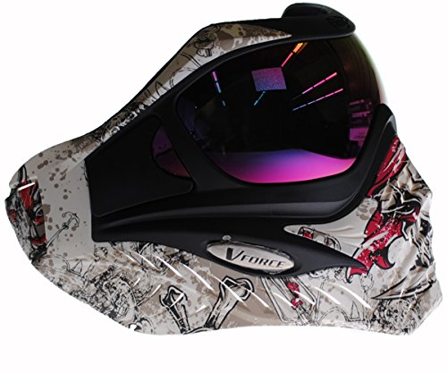 V-FORCE Grill Paintball Mask / Goggle - LIMITED EDITION - JOLLY ROGER by VForce