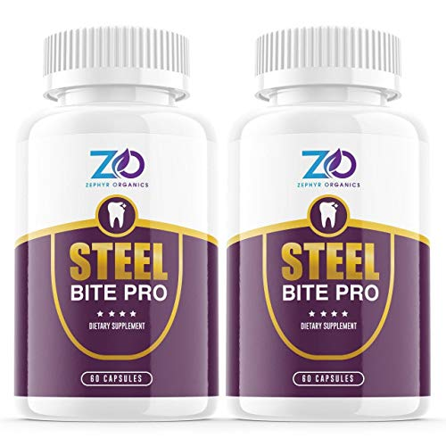 (2 Pack) Steel Bite Pro For Teeth and Gums, Steel Bits Pro Dental Supplement Pills - Premium Dental Care Vitamin Capsules - Oral Care Products (120 Capsules)