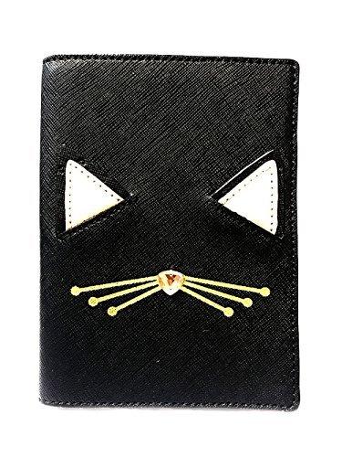 Kate Spade Imogene Leather Passport Holder Case, Multi (Jazz Things Up Cat Black-926) by Kate Spade New York