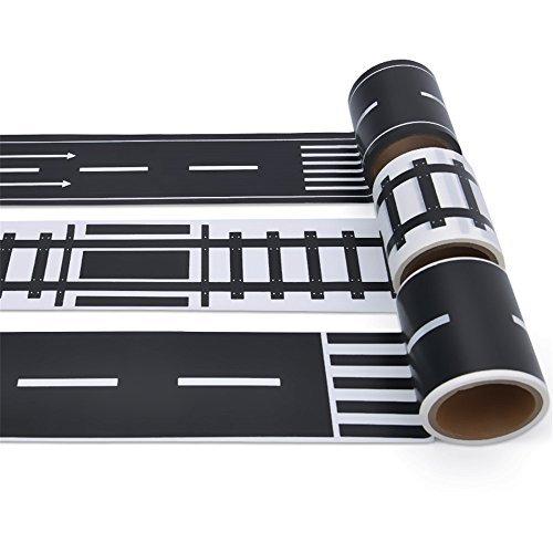 MiDeer Road Play Tape DIY Traffic Railway Play Stickers Adhe