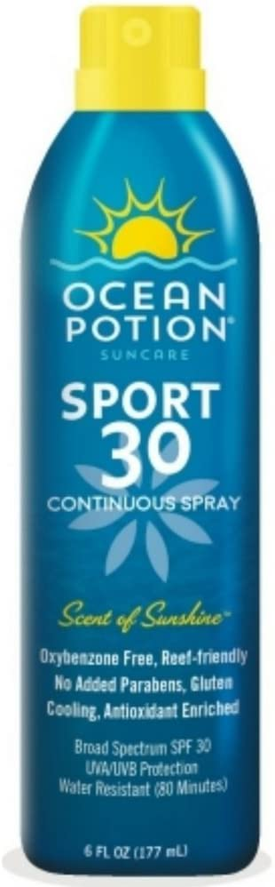 Ocean Potion Sport Cooling Sunscreen Spray, SPF 30 6 oz ( Pack of 1 )