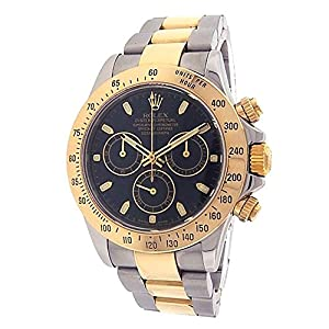 Rolex Daytona automatic-self-wind mens Watch 116523BKSO (Certified Pre-owned)
