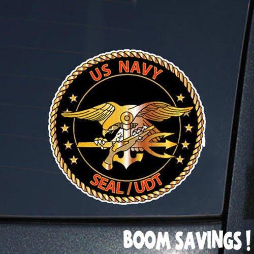 Navy Seals Decal - US Navy Seal -UDT Black Red () 6