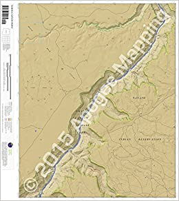 North Canyon Point, AZ 7.5 Minute Topographic Map - Waterproof Paper on caprock escarpment map, brazos river map, llano estacado map,