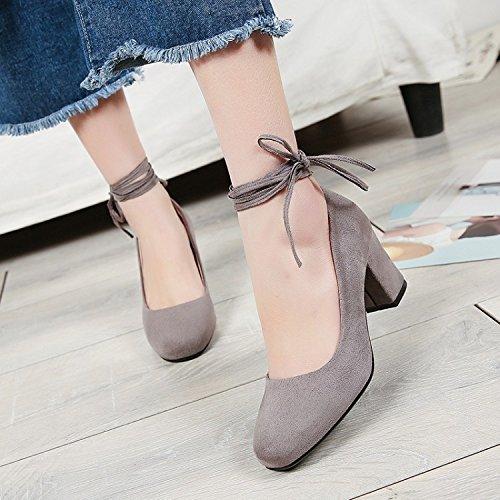 GTVERNH Zapatos de Mujer/Verano/Plaza Zapatos Mujeres Flores Silvestres Largas Faldas Sandalias Zapatos Y Abuela. Apricot color
