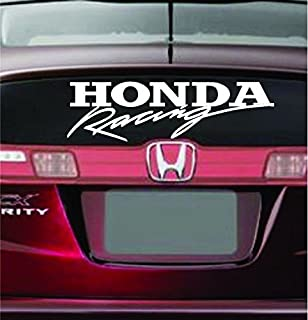 HONDA RACING LOGO VINYL STICKER CAR DECAL BUMPER VARIOUS COLOR (5.5