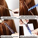 40 Pieces Spiral Hair Perm Rod Spiral Rod Plastic