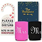 Honeymoon Survival Kit - Honeymoon Survival Kit (Honeymoon Journal, Mr. and Mrs. Cup Holders and Do Not Disturb Door Hanger)