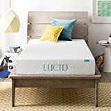 Lucid 8 Inch Memory Foam Mattress, Dual-Layered, CertiPUR-US Certified, Medium-Firm Feel, Twin Size