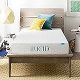 Best Mattress Toppers for Hard Beds LUCID 8 Inch Gel Infused Memory Foam Mattress - Medium Firm Feel - CertiPUR-US Certified - 10 Year warranty - Twin