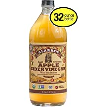 Clarke's Apple Cider Vinegar RAW Unfiltered With The Mother Unpasteurized Naturally Gluten Free Made From Organic Apples