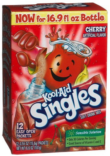 Kool-Aid Singles Cherry (for 16.9-Ounce Bottles), 12-Count Packets (Pack of 6)
