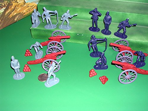 20 piece Civil War Artillery Playset: includes 1:32 Figures and Cannon ()