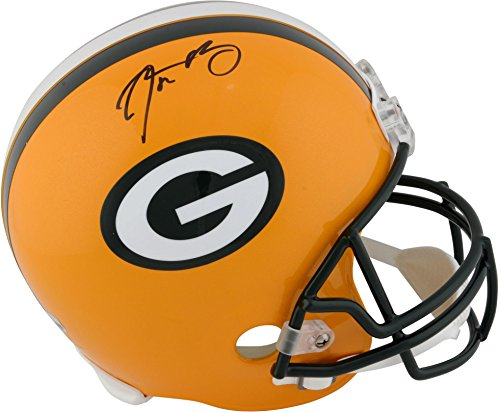Aaron Rodgers Green Bay Packers Autographed Riddell Replica Helmet - Fanatics Authentic Certified - Autographed NFL (Autographed Nfl Replica Helmet)